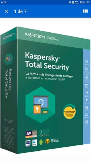 licencia antivirus Kaspersky Total Security 2018