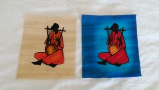 Cuadros tela pintada, africanos