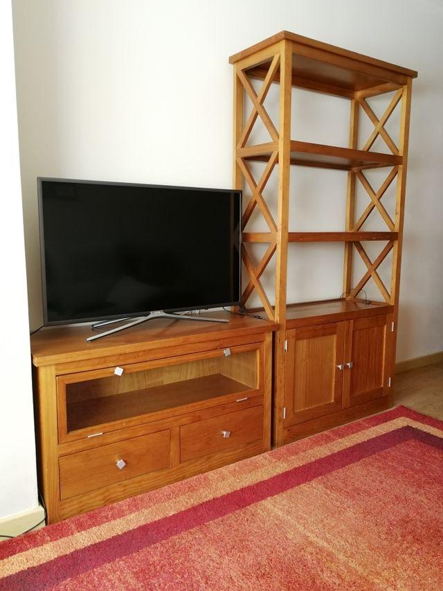 Muebles para salón (mesa de TV + librería)