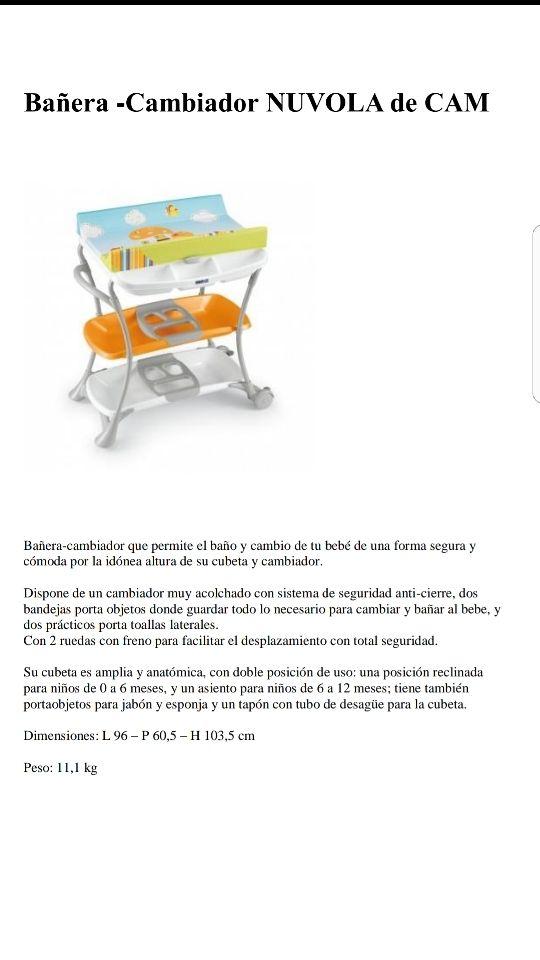 Bañera cambiador Nuvola de Cam de segunda mano por 45 € en ...