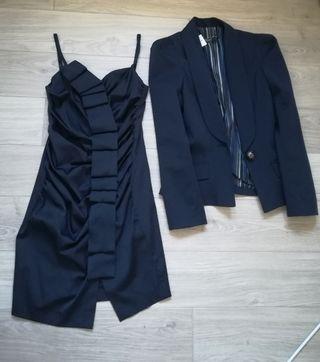 conjunto vestido + chaqueta