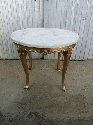 mesa de centro antigua de marmol