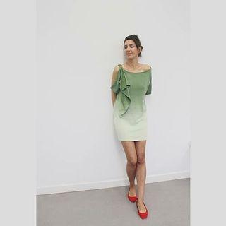 Vestido corto bicolor Talla M nuevo