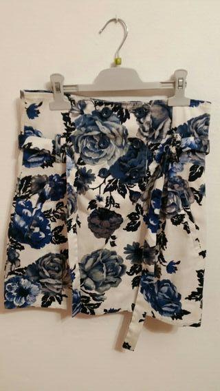 Falda de flores talla S