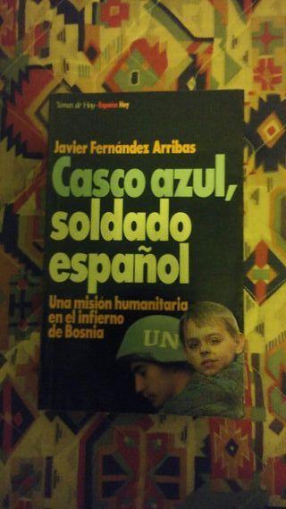 Libro Casco azul,soldado español.