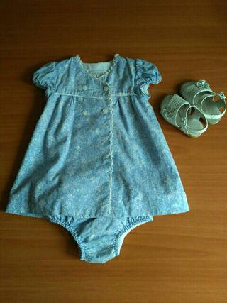 Vestido + culetin Dulces (Talla 6-12M)