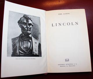 LINCOLN AÑO 1967 EDITORIAL JUVENTUD EMIL LUDWIG