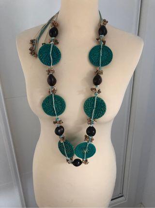 Collar etnico turquesa Yokana