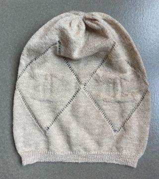 Bonnet cachemire beige CHANEL T. 50-52