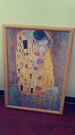 puzzle El Beso de Gustave Klimt enmarcado.