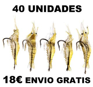40 UNIDADES SEÑUELO CAMARON PESCA 4CM