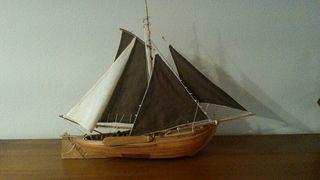 maqueta barco madera