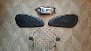 Triumph Bonneville, accesorios de tanque y faro