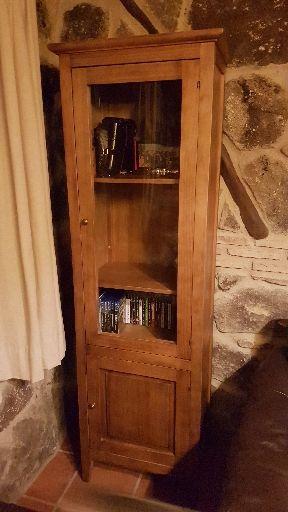 Mueble vitrina madera