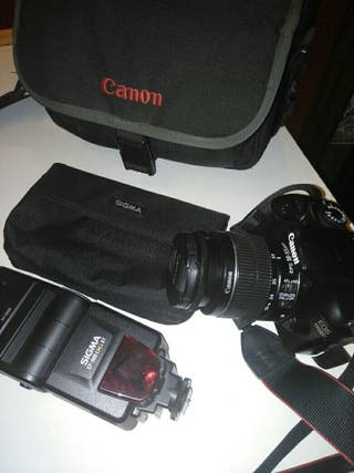 Cámara fotográfica Canon 1100D con caja original