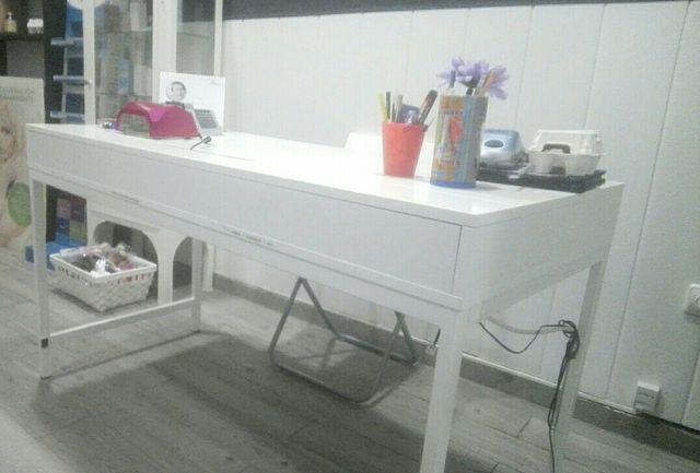 Escritorio blanco ikea de segunda mano por 90 en el carambolo wallapop - Ikea escritorio blanco ...