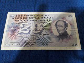 billete 20 Francos(SUIZA)