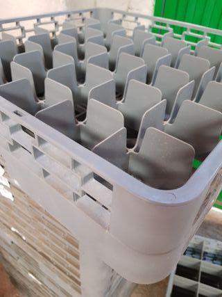 Cesta de transporte de vasos y copas