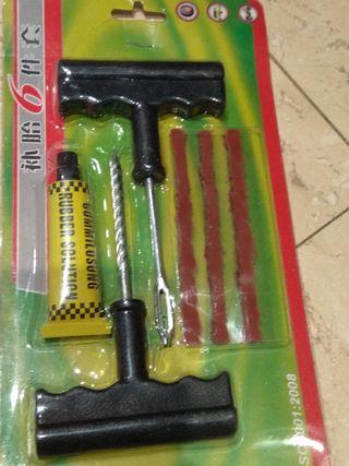 kit reparacion pinchazos para coche