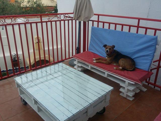 Conjunto muebles palet terraza de segunda mano por 350 for Conjunto muebles terraza