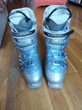 botas de esqui de mujer para un 39 de pie.