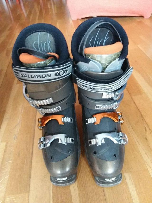 botas de esqui hombre 41 de pie