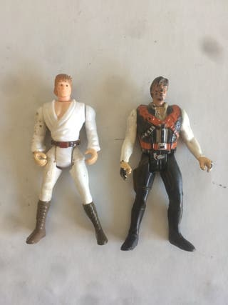 Figuras STAR WARS Han Solo Luke Skywalker