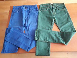 dos pantalones talla 14