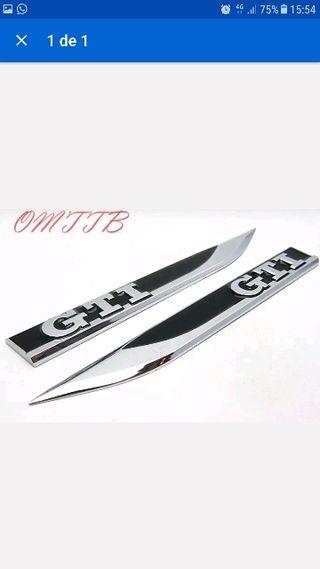 2 Unidades moldura GTI negro metálicas