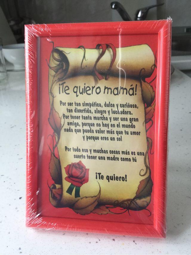 Marco con lámina ¡Te quiero ! de segunda mano por 3 € en Majadahonda ...