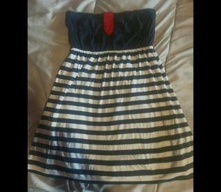 Vestido corto colores marinero