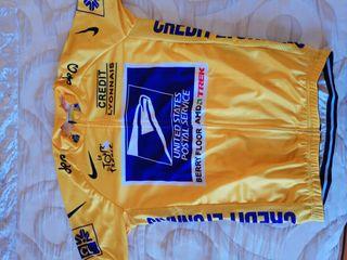 Maillot amarillo US POSTAL Tour Francia Armstrong