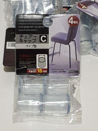 50 Gomas patas sillas transparentes