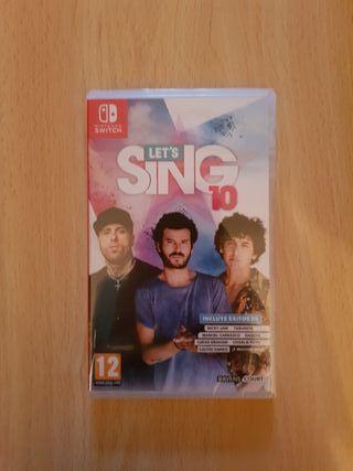 Lets Sing 10 Nintendo Switch PRECINTADO