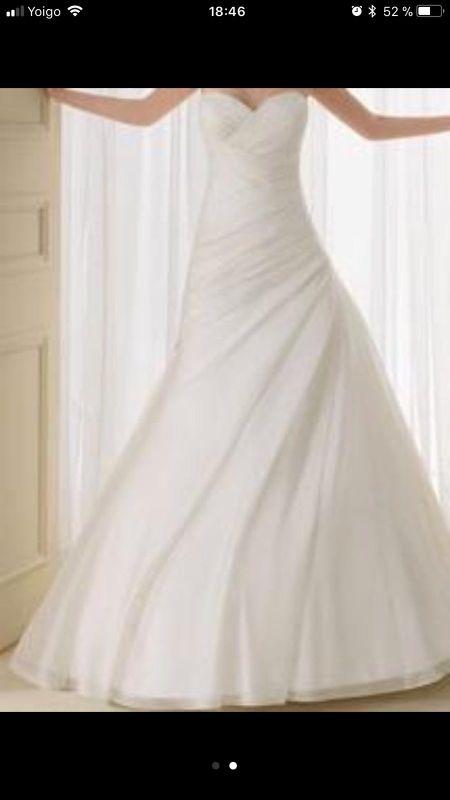 vestido de novia .rosa clara. de segunda mano por 260 € en sant