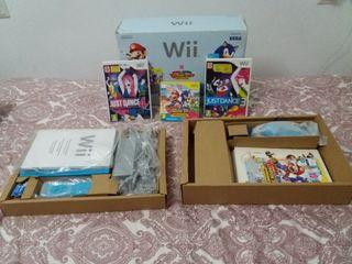 Wii Azul + 3 juegos