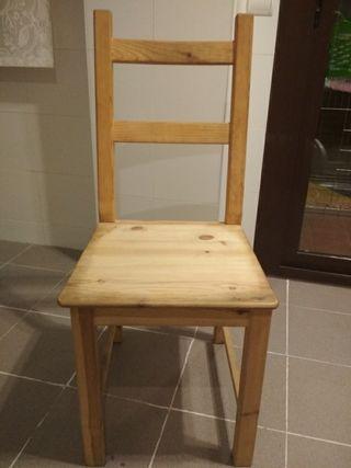 8 Madrid Ikea Mano En De Segunda Silla Pino Por Madera € Ivar Yfgy6b7v