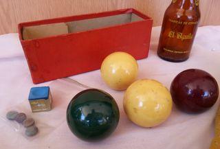 Bolas de billar. Antiguas. Años 60. Set de 4 bolas