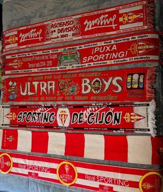 Coleccion bufandas Sporting de gijon