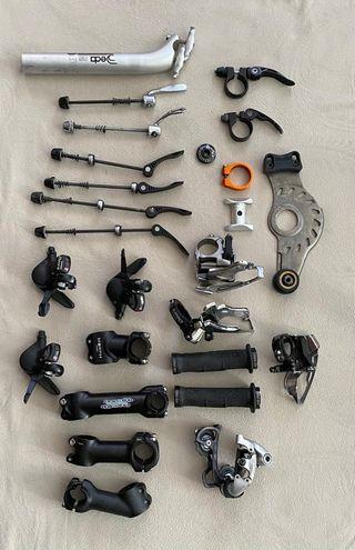 conjunto piezas bici