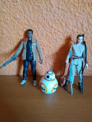 Finn, Rey y BB-8 Takodana. Figuras Star Wars.