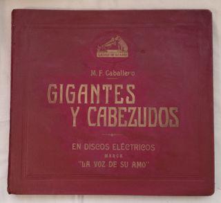 Album con Discos de Gramola Gigantes y Cabezudos