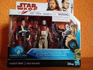 Chirrut Imwe y Baze Malbus. Star Wars Last Jedi