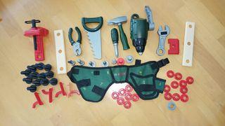 Banco herramientas juguete Bosch todas las piezas