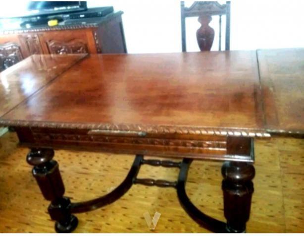 Mesa de comedor antigua de madera de Roble . de segunda mano por 800 ...