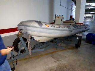 Barco con fueraborda 25cv 2 T