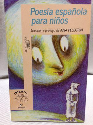 """Libro """"Poesía española niños"""""""