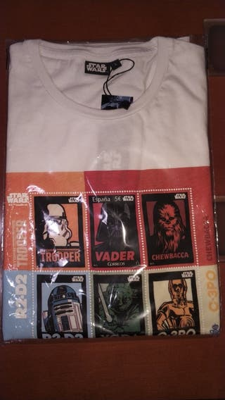 Camiseta Star Wars Sello de Correos. Nueva