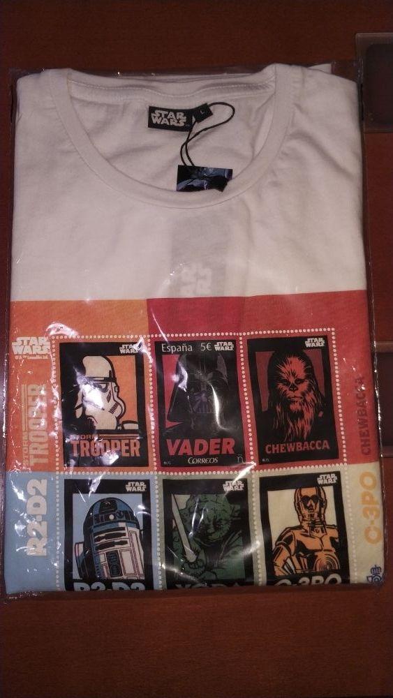 Camiseta Star Wars Sello de Correos. Nueva