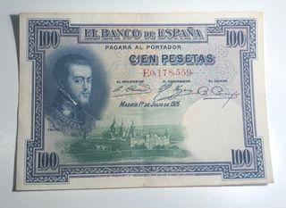 Billete cien pesetas 1925